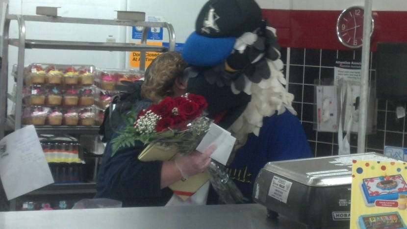Ollie Osprey actually started his Valentine's Day deliveries one day early.